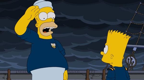 Матрос Гомер слушает команду мичмана Барта
