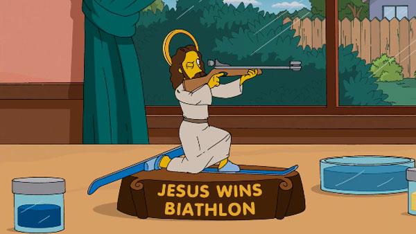 Иисус побеждает в биатлоне