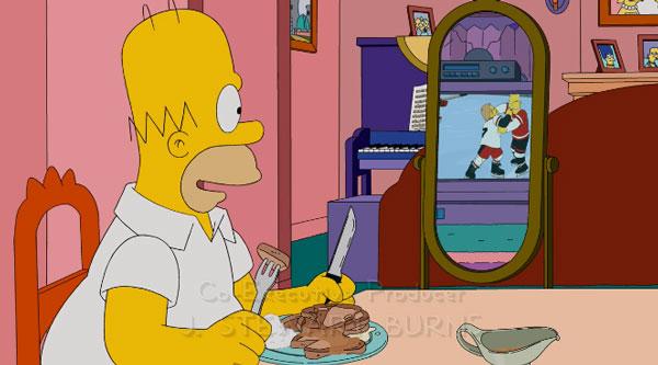 Гомер ест свиные отбивные