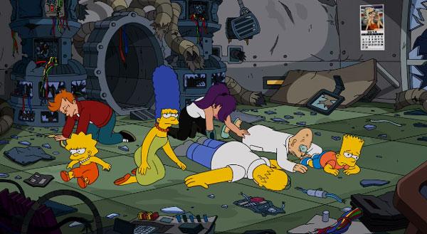 Симпсоны в будущем с Футурамой