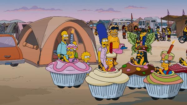 Симпсоны в кемпинге Пылающий парень