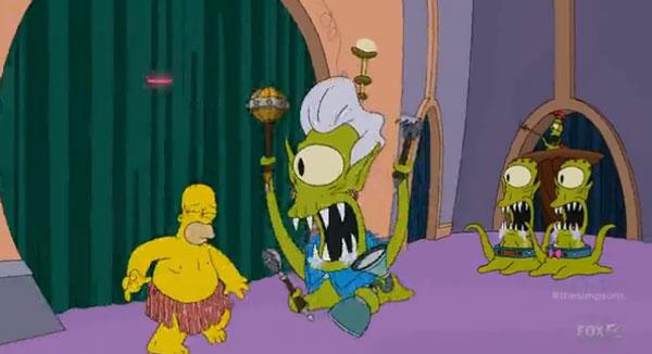 Пришелец напал на Гомера