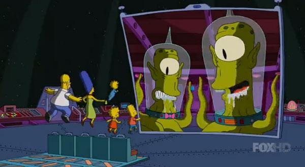 Симпсонов похитили пришельцы