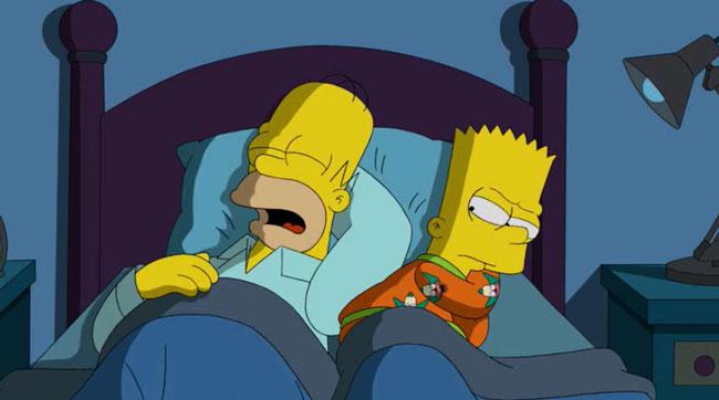 Гомер спит с Бартом
