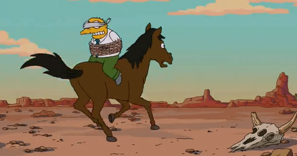 Молмен связан на лошади