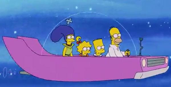 Симпсоны на машине