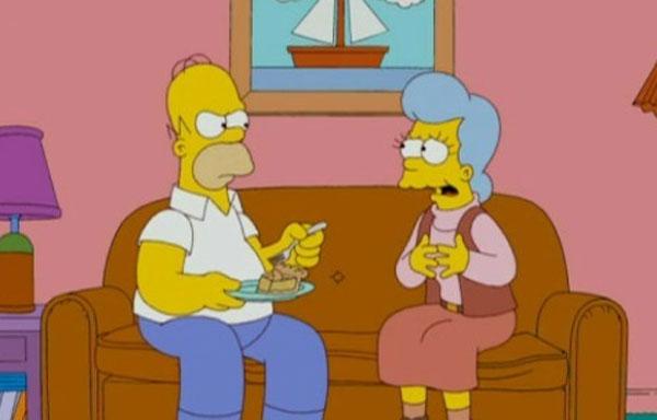 Гомер с матерью