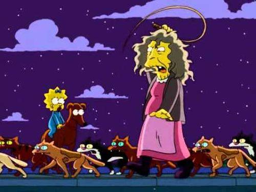 Кошатница из Симпсонов
