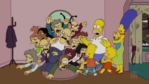 Зомби в доме Симпсонов
