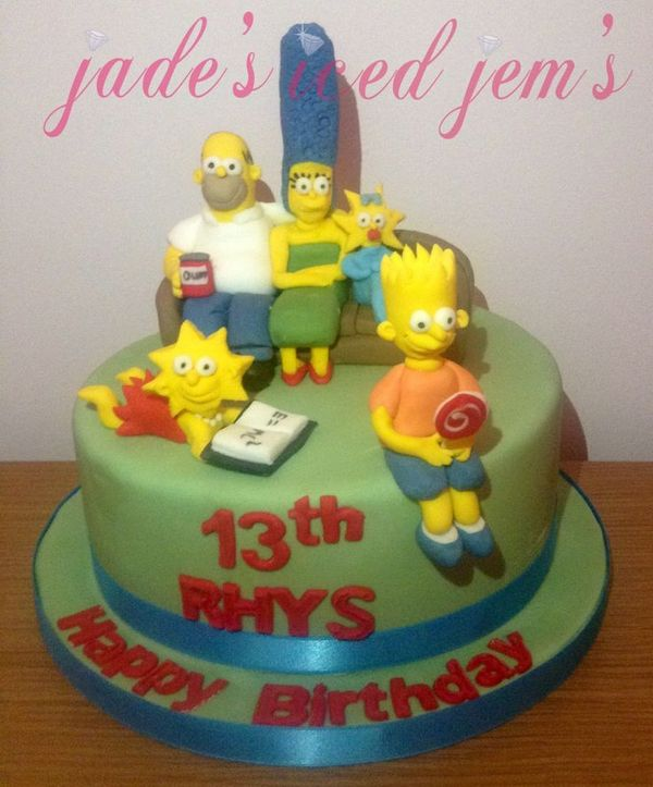 Сладкий торт с Симпсонами