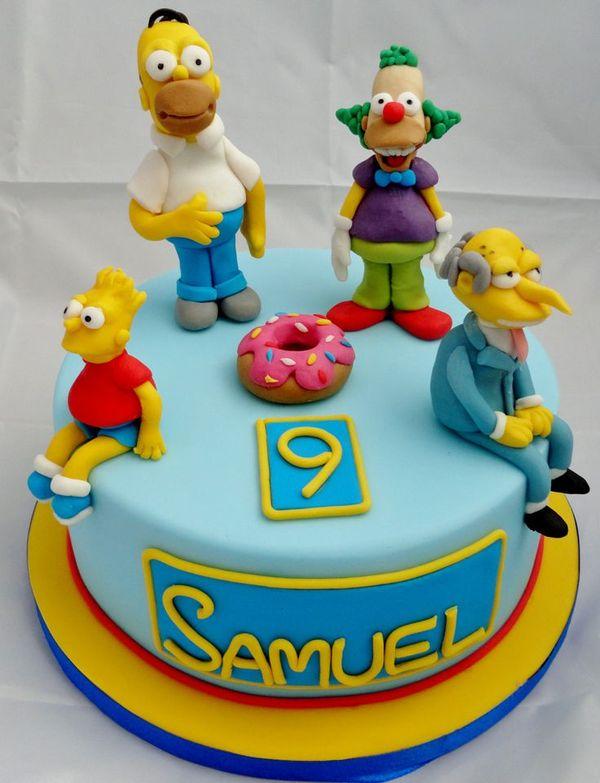 Торт с Симпсонами