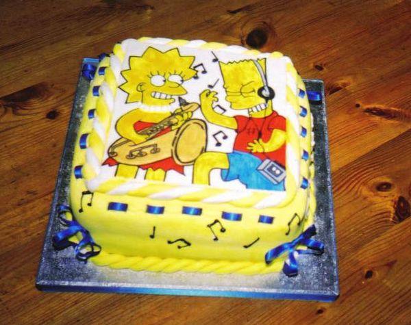Музыкальный торт с Бартом и Лизой