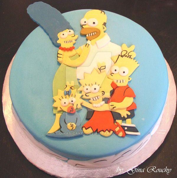 Торт вся семья Симпсонов