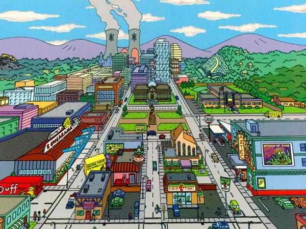 Вид на главные улицы Спрингфилда