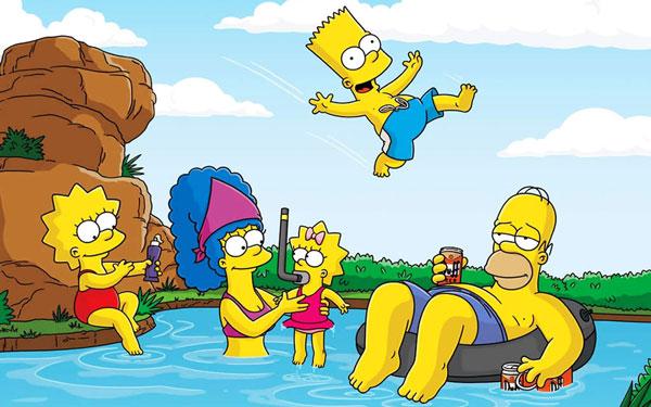 Семья Симпсонов на отдыхе