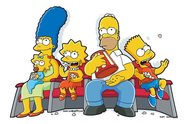 Симпсоны с поп-корном