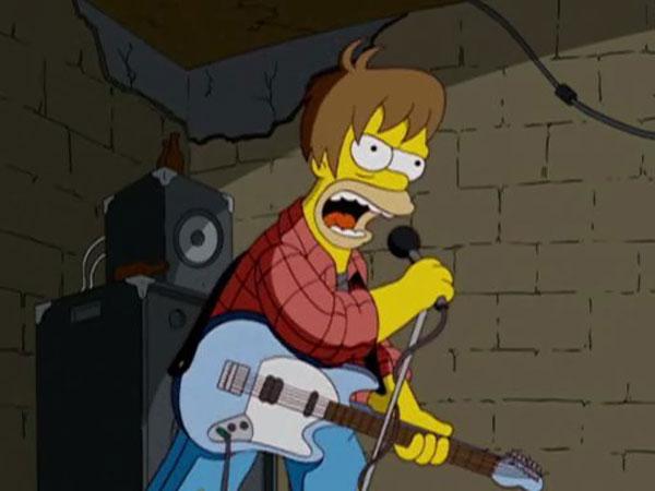 Гомер в молодости играет рок