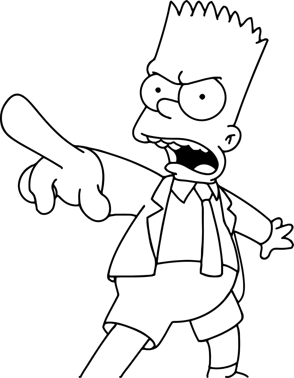 Симпсоны картинки черно белые
