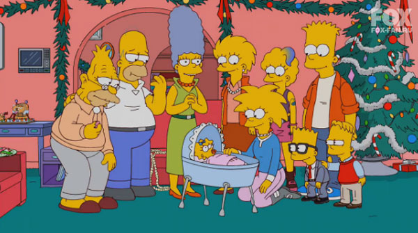 Вся семья Симпсонов вместе