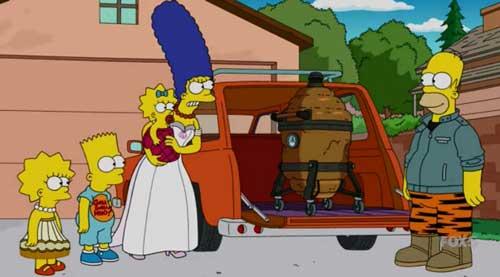 Гомер купил коптилку для мяса