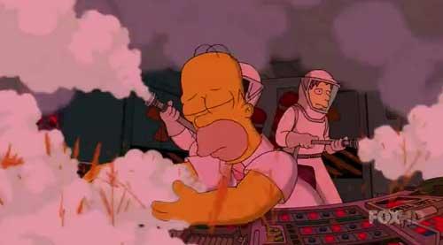 Гомер заснул на работе