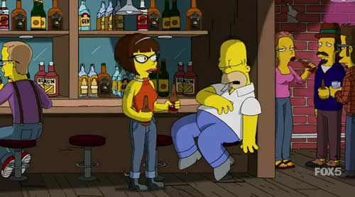 Гомер спит в баре