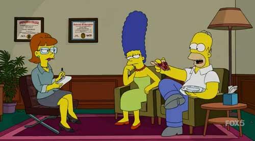 Мардж и Гомер у психотерапевта