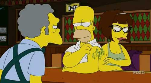 Тату Гомера и Кэндис