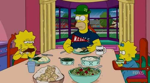Гомер за столом