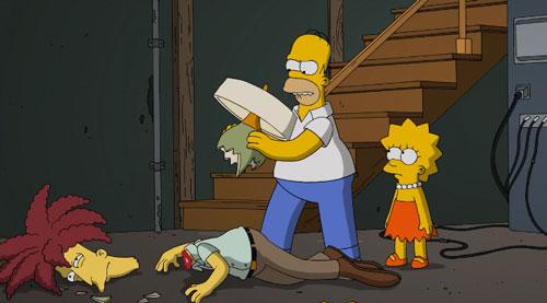 Гомер убивает комика Боба