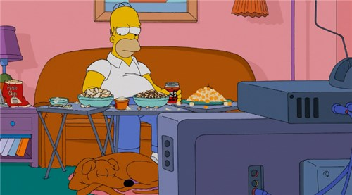 Гомер перед телевизором