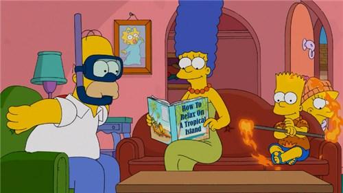 Симпсоны мечтают об отпуске