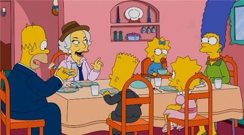 Лени в гостях у Симпсонов