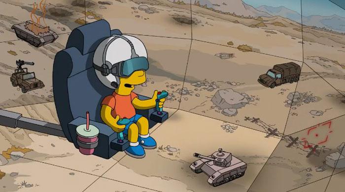 Барт в военном симуляторе