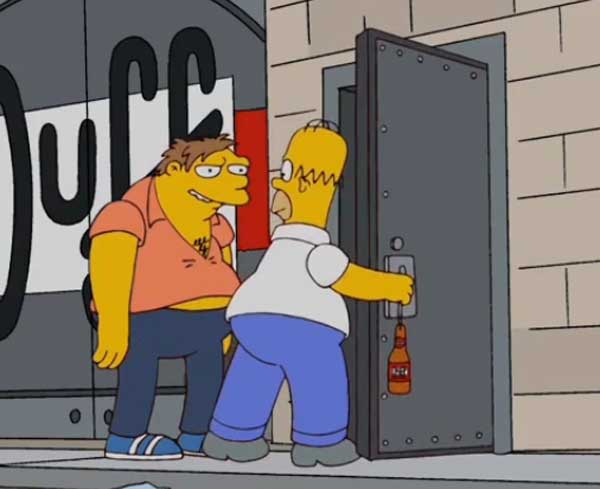 Барни Гамбл и Гомер Симпсон