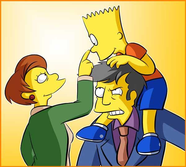 Барт и директор Скиннер
