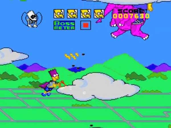 Игра Симпсоны Барт супергерой Бартман