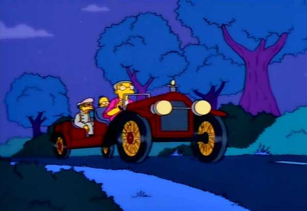 Бернс на ретро-авто