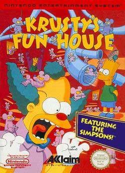 Игра дом развлечений Красти клоуна
