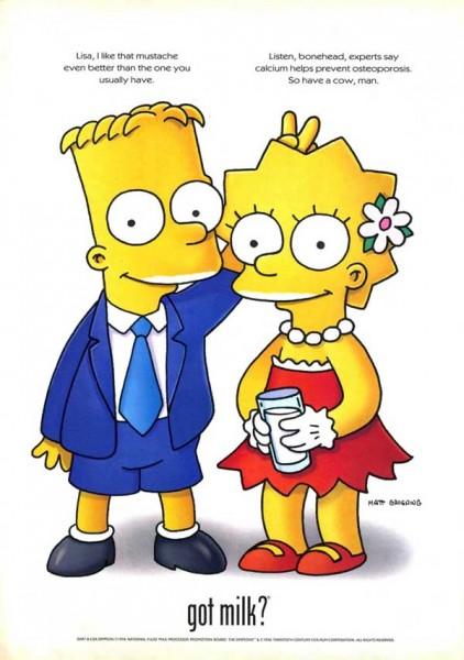 Лиза Симпсон с Бартом