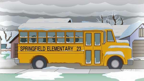Лиза в школьном автобусе