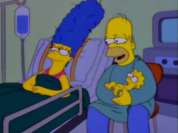 Гомер Симпсон с Мэгги