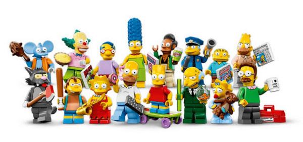Все Симпсоны в стиле фигурок LEGO