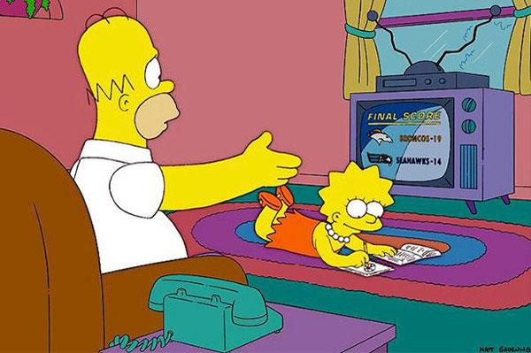 Гомер смотрит телевизор