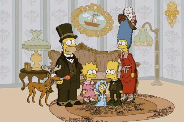 Симпсоны в старом стиле
