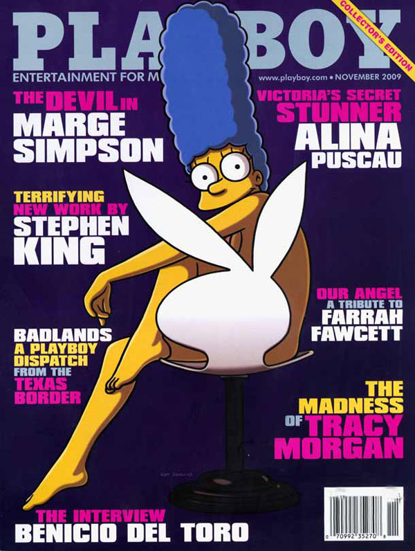 Мардж в журнале Плейбой