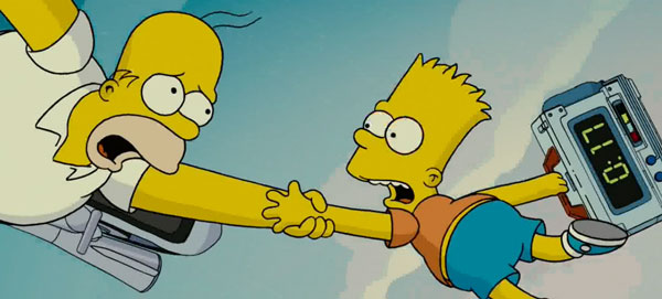 Барт и Гомер на куполе