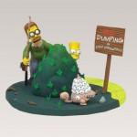 Фигурка Барт и Нед Фландерс на озере
