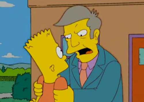Скиннер и Барт Симпсон