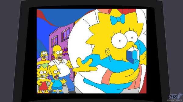 Смитерс похищает Мэгги, игра Симпсоны